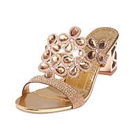 tanie Obuwie damskie-Damskie Obuwie PU Lato Comfort Sandały na Casual Gold Black Niebieski