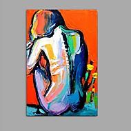 handgeschilderd mes olieverfschilderij muurkunst met draagframe klaar om te hangen