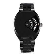 Erkek Benzersiz Yaratıcı İzle Gündelik Saatler Spor Saat Elbise Saat Moda Saat Bilek Saati Çince Quartz Takvim Su Resisdansı Paslanmaz