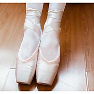 billige Kustomiserte dansesko-Dame Ballettsko Blonder / Silke / Tekstil Flate Flat hæl Kan spesialtilpasses Dansesko Rosa / Trening
