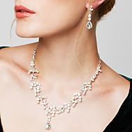 Dámské Sady šperků Náušnice Pramenů Náhrdelníky Módní Elegantní bižuterie Zirkon Štras Postříbřené Umělé diamanty Slza Náhrdelníky