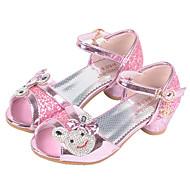baratos Sapatos de Menina-Para Meninas Sapatos Micofibra Sintética PU Verão / Outono Conforto / Sapatos para Daminhas de Honra Rasos Presilha para Prateado / Rosa