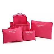 お買い得  トラベル-6セット 旅行かばんオーガナイザー 小物収納用バッグ バッグ用小物 クロス ナイロン