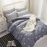 Curve 4 Piece Cotton Cotton 4pcs (1 Duvet Cover, 1 Flat Sheet, 2 Shams)