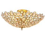 billige Taklamper-Lightmyself 9 lys gull moderne krystall taklampe innendørs lys til stue soverom spisestue
