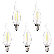 2W E14 Lâmpadas de Filamento de LED C35 2 COB 200 lm Branco Quente Branco 2700-3200 6000-6500 K Regulável AC 220-240 V