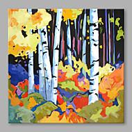 voordelige -Handgeschilderde Abstract Horizontaal, Abstract Kangas Hang-geschilderd olieverfschilderij Huisdecoratie Eén paneel