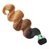 Gerçek Saç Orta Dalgalı Malezya Saçı Ombre Vücut Dalgası Saç uzatma 1 Parça Siyah / Orta Brown / Çilek Sarışın