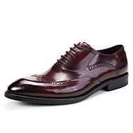 Homens sapatos Pele Couro Primavera Outono Sapatos formais Sapatos De Casamento para Casamento Escritório e Carreira Festas & Noite Preto