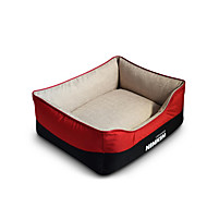 Dog Bed Pet Mats & Pads Solid Warm Soft Coffee Red Blue