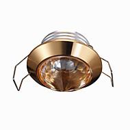 billige Innfelte LED-lys-1 W LED perler Mulighet for demping Innfelt lampe Varm hvit 220 V / 1 stk.