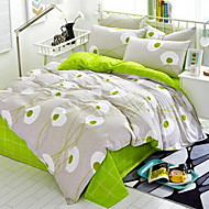 cheap Contemporary Duvet Covers-Floral 4 Piece Cotton Cotton 1pc Duvet Cover 2pcs Shams