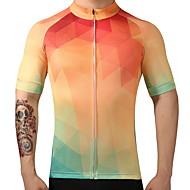 FUALRNY® Camisa para Ciclismo Homens Manga Curta Moto Camisa/Roupas Para Esporte Blusas Secagem Rápida Respirabilidade 100% Poliéster