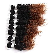 アフロ変態三つ編み ヘアブレイズ カール 人毛のかぎ針編みひも ブラック ブラック/ストロベリーブロンド ブラック/ミディアムオーバーン ブラック/バーガンディ ブレイズヘア ヘアエクステンション