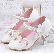 cheap Flower Girl Shoes-Girls' Flats Comfort Flower Girl Shoes Summer Fall Leatherette Casual Dress Hook & Loop Flat Heel Gold White Blushing Pink Flat