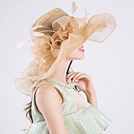ขนนก / ผ้าไหม / ผ้าไหมแก้ว Kentucky Derby Hat / fascinators / หมวก กับ 1 งานแต่งงาน / โอกาสพิเศษ / งานปาร์ตี้ / งานราตรี หูฟัง