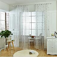 Window Treatment Rund Parfymert , Broderi Stue Materiale Gardiner Skygge Hjem Dekor For Vindu