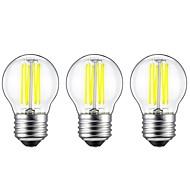6W E27 Lâmpadas de Filamento de LED G45 6 COB 560 lm Branco Quente Branco 2700 6500 K Decorativa AC 220-240 V