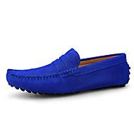baratos Sapatos Masculinos-Homens sapatos Pele / Couro Primavera / Verão Mocassim Mocassins e Slip-Ons Amarelo Terra / Azul / Vinho