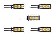 tanie Więcej Kupujesz, Więcej Oszczędzasz-5pcs 2W 145 lm G4 Żarówki LED bi-pin 26 Diody lED SMD 2835 Ciepła biel Biały DC 12V