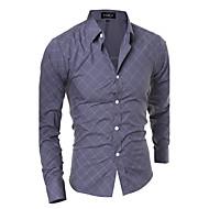Veći konfekcijski brojevi Majica Muškarci - Aktivan Dnevno Pamuk Prugasti uzorak Geometrijski oblici Kineski ovratnik
