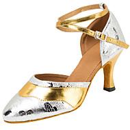 Dame Moderne Fuskelær Sandaler Opptreden Kryss & Tvers Kubansk hæl Sølv 7,5 cm Kan spesialtilpasses