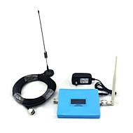 Mini intelligent display cdma 850mhz stk 1900mhz mobiltelefon signal booster signal repeater med pisk antenne / sucker antenne blå