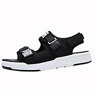 olcso -Férfi cipő Bőrutánzat Nyár Kényelmes Szandálok Gyalogló Fekete / Szürke