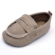 Baby Platte schoenen Comfortabel Canvas Lente Herfst Bruiloft Causaal Feesten & Uitgaan Comfortabel Combinatie Platte hak Grijs Koffie