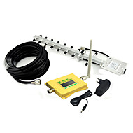Intelligent Display Mobile Phone DCS 1800mhz 4G Signal Booster DCS980 Signal Repeater with Whip Antenna / Yagi Antenna Yellow
