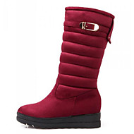 Women's Shoes Nubuck leather Winter Comfort Snow Boots Boots For Casual Black Red Blue