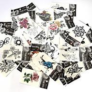 cheap Temporary Tattoos-53 Pattern Lower Back Waterproof Animal Series Flower Series Totem Series Romantic Series Cartoon Series Tattoo Stickers