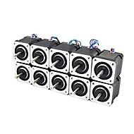 3d yazıcı nema 17 step motorlu doğrusal vida 2 fazlı 3d yazıcı gravür makinesi (10'ar paket)
