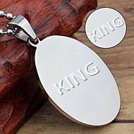 Metal keychain tag ellipse laser engraving custom key ring steel accessories