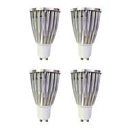 halpa -4kpl 6W 480lm GU10 LED-kohdevalaisimet MR16 1 LED-helmet COB Lämmin valkoinen / Valkoinen 220-240V / 4 kpl