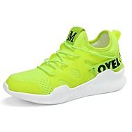 נשים נעלי אתלטיקה נוחות אביב סתיו טול הליכה אתלטי שרוכים עקב שטוח לבן שחור ירוק ורוד שטוח