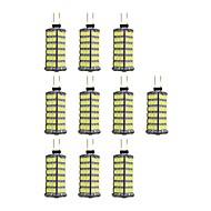 tanie Więcej Kupujesz, Więcej Oszczędzasz-10pcs 4W 320 lm G4 Żarówki LED bi-pin 120 Diody lED SMD 2835 Ciepła biel Biały DC 12V
