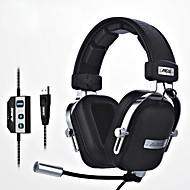 ajazz-ax300 Bandana Com Fio Fones Dinâmico Aluminum Alloy Tecido Games Fone de ouvidoCom Microfone Com controle de volume Ergonomic