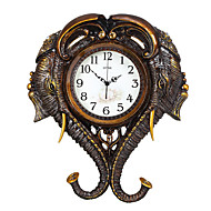 cheap -Modern/Contemporary Traditional Country Casual Retro Animals Wall ClockElephant Animals Resin Indoor Clock