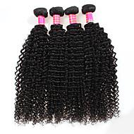 Tissages de cheveux humains Cheveux Brésiliens Très Frisé 3 Mois 4 tissages de cheveux kg Mèches Rapides
