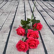 1 Gren Plastikk Roser Gulvblomst Kunstige blomster