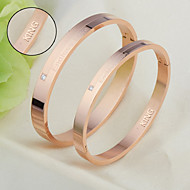 Titanium bracelet beloved couple bracelet Korean fashion jewelry jewelry for Valentine's Day