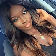 Ljudska kosa Lace Front Perika Tijelo Wave 150% Gustoća 100% rađeno rukom Afro-američka perika Prirodna linija za kosu Ombre Faux Locs