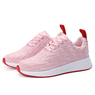cheap Women's Athletic Shoes-Women's Shoes Fabric Fall / Winter Comfort Athletic Shoes Running Shoes Low Heel Lace-up White / Black / Pink