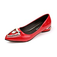 Women's Loafers & Slip-Ons Light Soles PU Summer Dress Low Heel Ruby Black 1in-1 3/4in