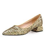 cheap Women's Heels-Women's Shoes Sparkling Glitter Paillette Winter Fall Comfort Novelty Heels Chunky Heel Pointed Toe Sequin for Dress Party & Evening