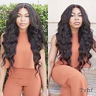 Menneskehår Blonde Front Paryk Krop Bølge 130% 150% Massefylde 100 % håndbundet Afro-amerikansk paryk Natural Hairline 10 tommer (ca.