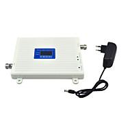 Gsm dcs mobiltelefon signal booster 2g 900mhz 1800mhz signal repeater forsterker med 12v strømforsyning lcd display / hvit