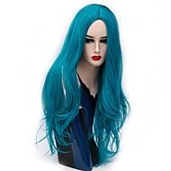 Naisten Synteettiset peruukit Suojuksettomat Pitkä Suora Golden Brown Hopea Punainen Sininen Kirkas violetti Luonnollinen peruukki