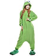 Kigurumi Pijama Tek gözlü canavar Tulum Pijamalar Kostüm Polar Kumaş Yeşil Cosplay İçin Yetişkin Hayvan Sleepwear Karikatür cadılar